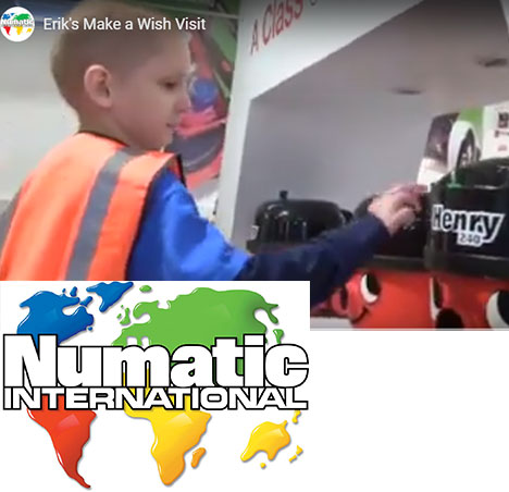 Numatic make a wish come true for 5 year old Erik